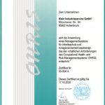 Klein-is-Zertifikat